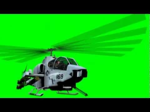AH 1W Super Cobra 3d model green screen animation  s01r02