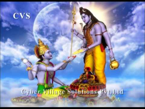 Viswanathashtakam - Lord Shiva Devotional 3D Animation God Bhajan Songs  Maha Shivaratri Special