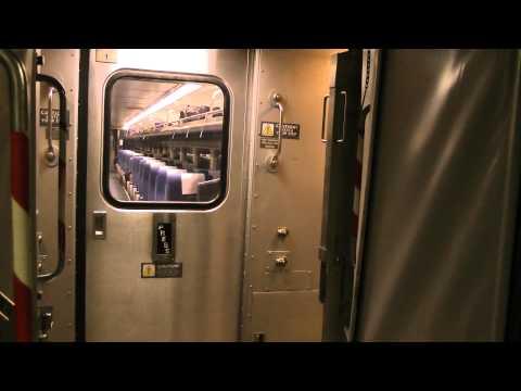 track noise and inter-car movement Amtrak Missouri River Runner