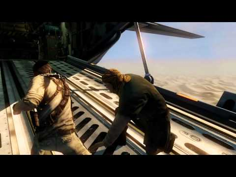 UNCHARTED 3 Cargo plane Gamescom 2011 Behind Closed Doors demo
