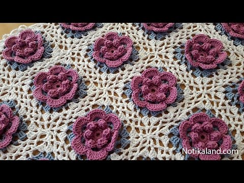 How to crochet a baby blanket for beginners Part 4 VERY EASY Tutorial Step by step