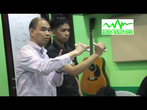 Audio Solutions Philippines Audio Engineering Hands-on Training (2014 Batch 12 Day 1)