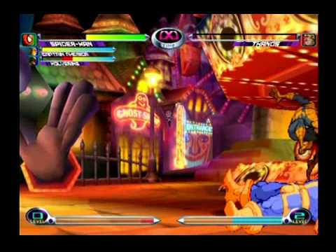 Marvel vs. Capcom 2 - Wolverine, Spider-Man, Captain America (Part 1)