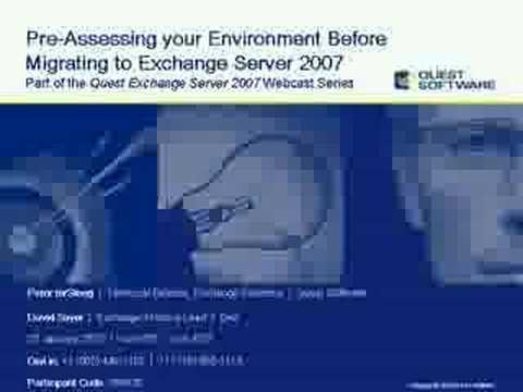 Pre-Assess before Migrating to Exchange Server 2007