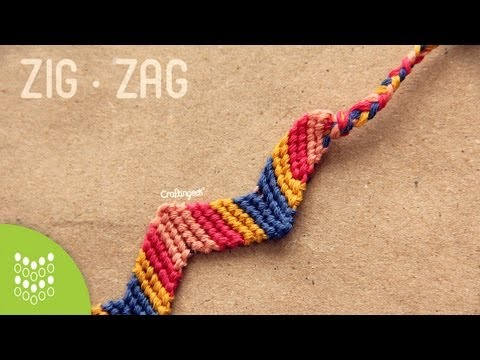 Pulsera de hilo: Zigzag // Friendship Bracelet