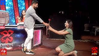 Varshini Cute Proposal to Sekhar Master - Dhee Champions (#Dhee 12) - 18th March 2020 - MALLEMALATV
