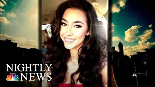 New Surveillance Video Shows Moments Before Model's Mysterious Death | NBC Nightly News - NBCNEWS