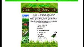 gardening leaflet,flyer template - YouTube