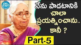 Renowned Writer Indraganti Janakibala Interview - Part #5 || Akshara Yatra With Mrunalini - IDREAMMOVIES