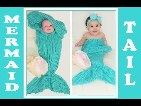 Pt.1 Glama's 2 in 1 Loom Knit Mermaid Tail Cocoon/Blanket