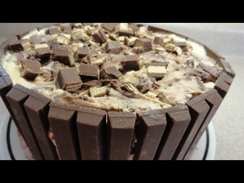 Kit Kat Candy Bar Ice Cream Cake with yoyomax12