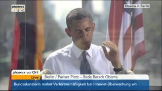 Rede US-Präsidenten Barack Obama Phoenix Brandenburger Tor 2013