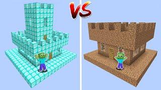 1$ UZAY KALE VS 1000$ UZAY KALE - Minecraft