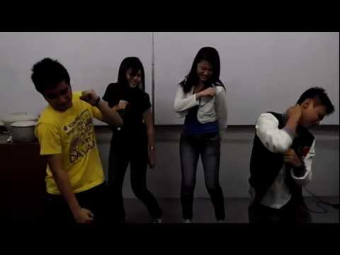1) GRAVITY SET-ADU Christmas Party 2011 ~ TEACH ME HOW TO DOUGIE of GRAVITY 4 & DANCERS ~ 12/15/2011