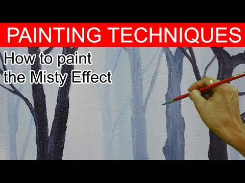 how to paint misty effects