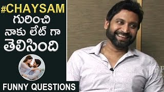 Funny Questions To Hero Sumanth and Aakanksha Singh | #MalliRaava | TFPC - TFPC