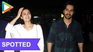 SPOTTED: Varun Dhawan & Alia Bhatt at airport - HUNGAMA