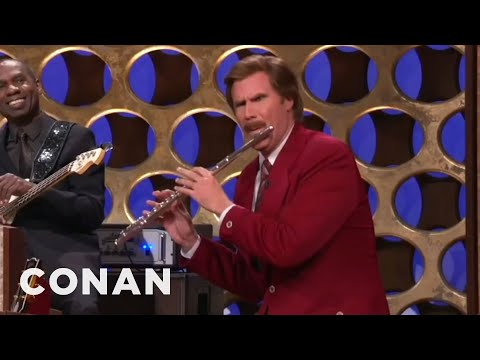 "Ron Burgundy's ""Anchorman"" Announcement - CONAN on TBS"