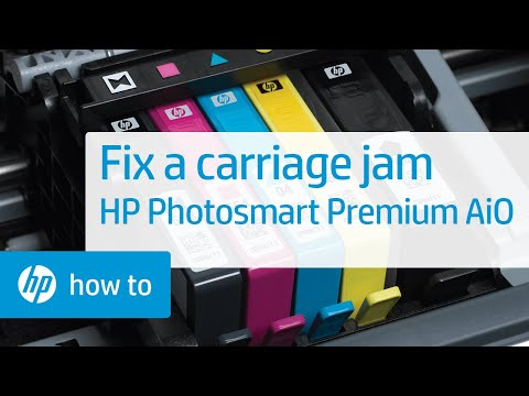 Fixing a Carriage Jam - HP Photosmart Premium All-in-One Printer (C309a)