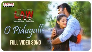 O Pidugalle Full Video Song | L A W (LOVE AND WAR) Video Songs | Kamal Kamaraju, Mouryani - ADITYAMUSIC