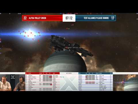 EVE Online - AT10 Day 6 Match 5 - Alpha Volley Union vs Test Alliance Please Ignore