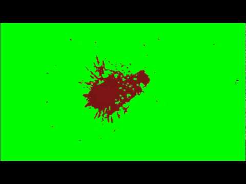 Red Splatter (Green Screen)