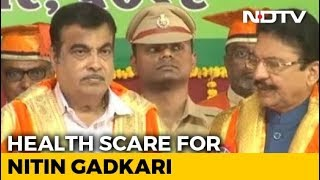 Nitin Gadkari Faints On Stage During Event In Maharashtra - NDTV
