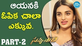 Savyasachi Actress Nidhhi Agerwal Exclusive Interview - Part #2    Talking Movies With iDream - IDREAMMOVIES