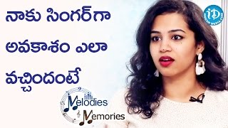 Manisha About How She Got An Opportunity To Sing In Films || Melodies And Memories - IDREAMMOVIES