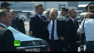 Putin arrives at Presidential Palace in Helsinki - RUSSIATODAY