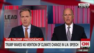 California governor rips Trump on North Korea and climate change - CNN