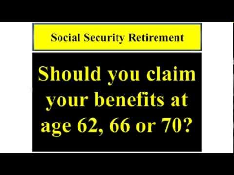 Social Security Retirement Income Planning
