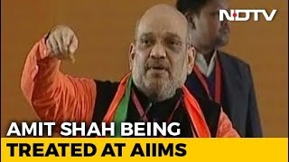 BJP Chief Amit Shah Down With Swine Flu, Being Treated At Delhi's AIIMS - NDTV
