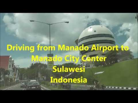 driving from Manado Airport to Manado City Center