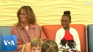 Melania Trump Visits Children's Hospital - VOAVIDEO