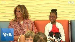 Melania Trump Visits Children's Hospital - VOAVIDEO