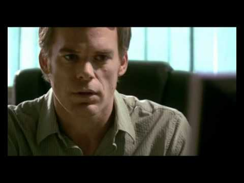 Dexter Playing X on the Computer
