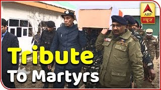 Home Minister Rajnath Singh, J&K governor pay tribute to martyrs of Pulwama attack - ABPNEWSTV