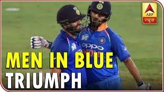 Super 6: India celebrates as men in blue defeat Pakistan in Asia Cup 2018 - ABPNEWSTV