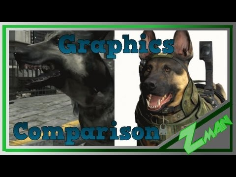 GRAPHICS COMPARISON | Call of Duty Ghosts and Modern Warfare 3