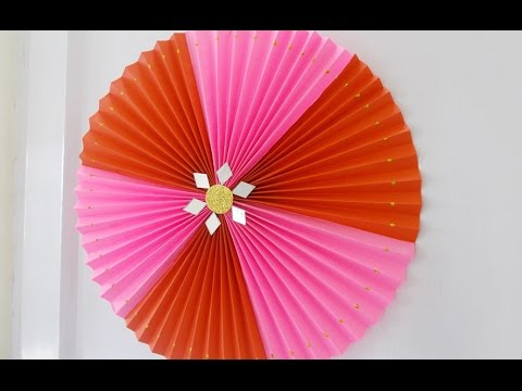 DIY Crafts : Super Easy Home Decor Idea - Rosette Making Tutorial