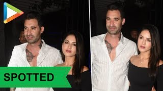 SPOTTED: Sunny Leone with Husband @ Juhu - HUNGAMA