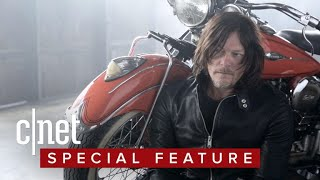 Norman Reedus really, really loves motorcycles! - CNETTV
