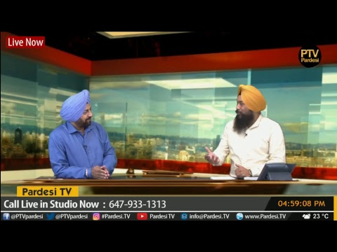 Media interview with Satinder Bains with host Satnam Singh on Pardesi TV