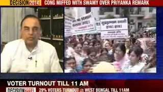 Congress worker protest against Swamy - NEWSXLIVE