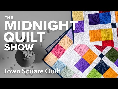 Town Square Quilt (4-Patch Variation) | Midnight Quilt Show with Angela Walters