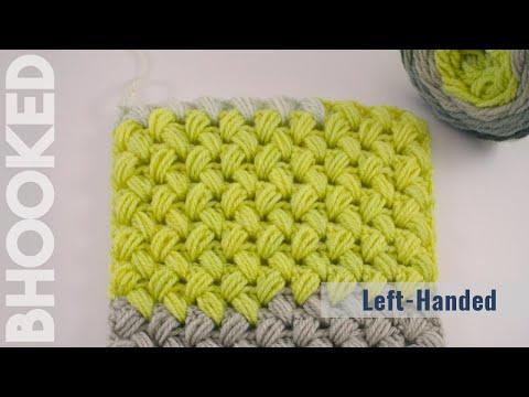 Crochet Zig Zag Puff Stitch Left Hand
