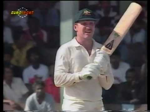 FUNNIEST SIX EVER! Allan Border facing Phil Simmons, BETTER LONGER FOOTAGE
