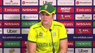 South Africa captain Danevan Niekerk speaks with the media at post match press-conference - CRICKETWORLDMEDIA