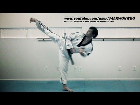 Repeated Taekwondo Kicks Tutorial (taekwonwoo)